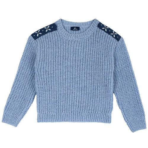 9064687, Джемпер Chicco для девочек р.92 цв.синий, Кофточки, футболки для новорожденных  - купить со скидкой