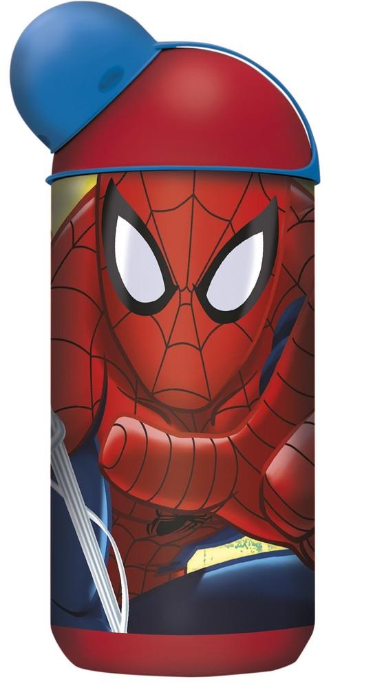 Бутылка пластиковая Stor (эрогономичная, 400 мл). Человек-паук Красная паутина 33452 фото