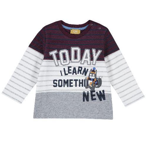 Купить 9006753, Лонгслив Chicco для мальчиков р.92 цв.белый, Кофточки, футболки для новорожденных