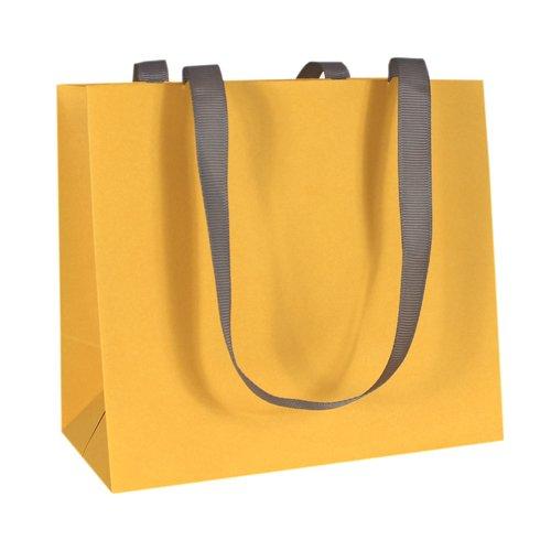 Пакет подарочный, 16 х 14 х 9, желтый