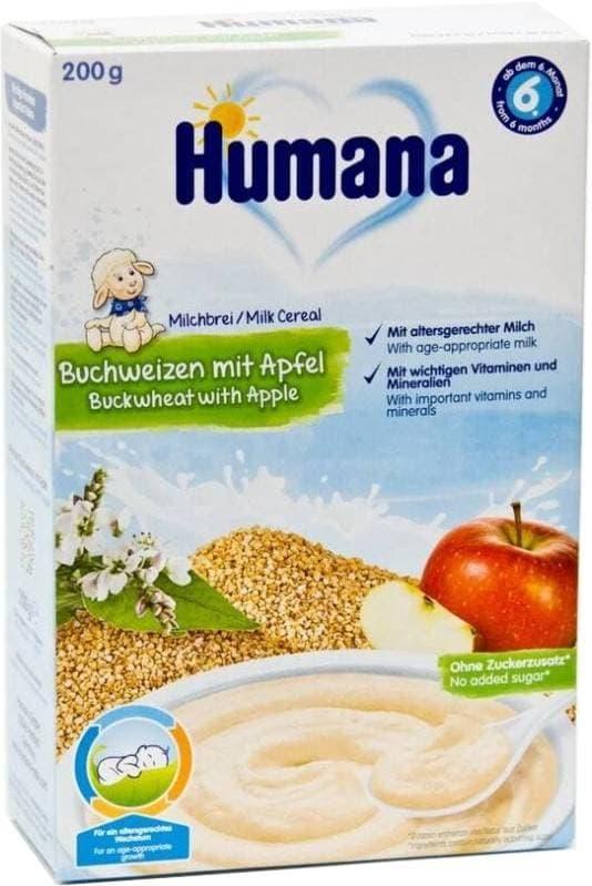 Каша молочная Humana Гречка с яблоком с 6 мес. 200 г фото