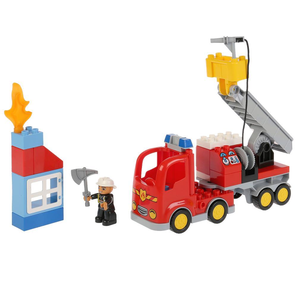 Купить Конструктор Город мастеров большие кубики Пожарная машина, Город Мастеров, Конструкторы пластмассовые