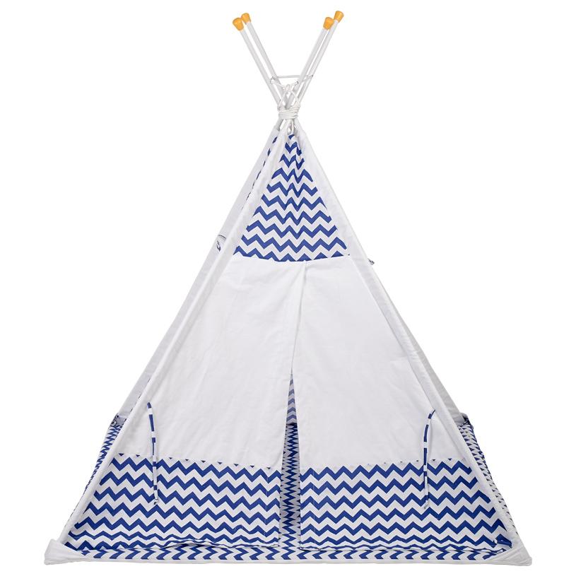 Палатка вигвам детская Polini kids Зигзаг синий