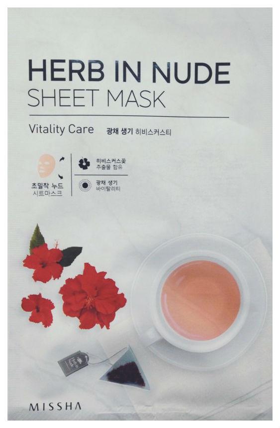 Маска для лица Missha Herb In Nude Sheet Mask Vitality Care 23 г
