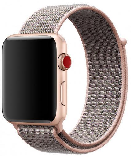 Ремешок для смарт-часов COTEetCI W17 Magic Tape для Apple Watch series 2/3/4 42/44mm Pink