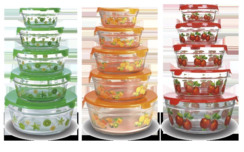 Набор стеклянных салатников KELLI KL 231