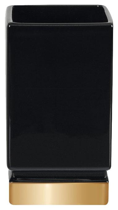 Стакан Roma чёрный, золотой по цене 1 400