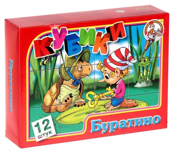 картинка Детские кубики Десятое Королевство Буратино 00683ДК от магазина Bebikam.ru