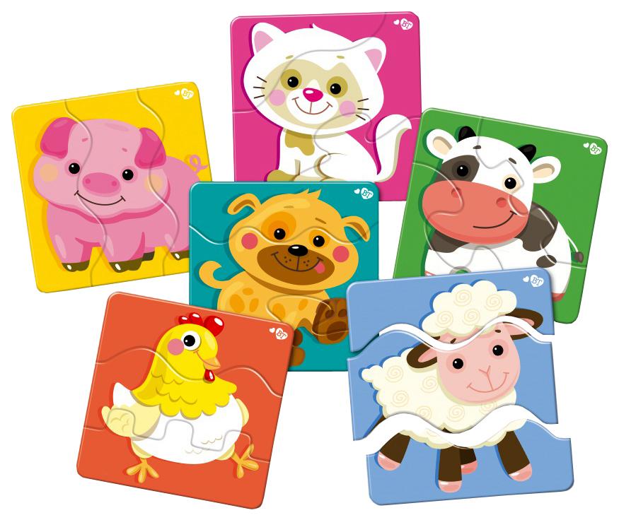 Купить Пазл Десятое Королевство Зигзаг Домашние Животные 18 Элементов, Пазлы