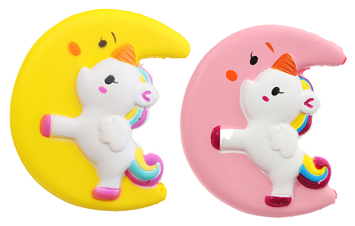 Купить Мягкая игрушка-антистресс Kawaii единорог на луне 10 см sq-52, Yiwu Sanqi Crafts, Сквиши