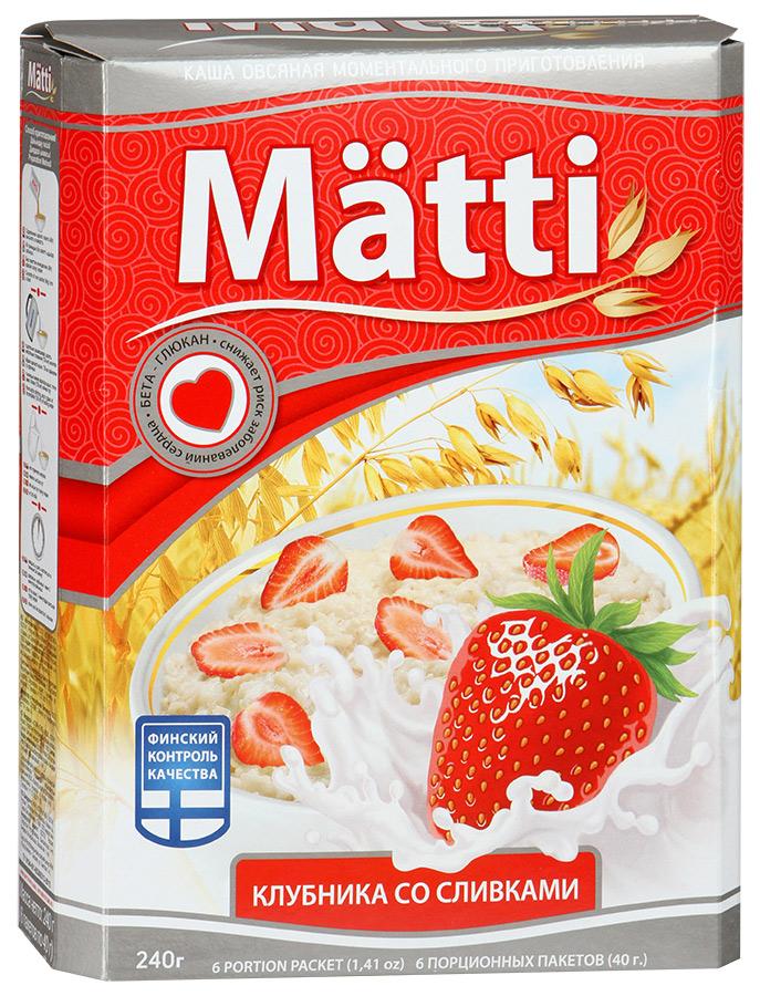 Каша Matti клубника со сливками 240 г 6 пакетиков