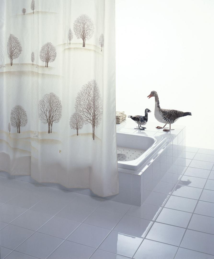 Штора для ванных комнат Park бежевый/коричневый 180*200