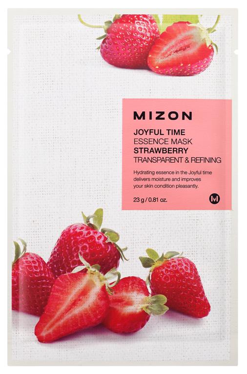 Маска для лица Mizon Joyful Time Essence Strawberry 23 г  - Купить