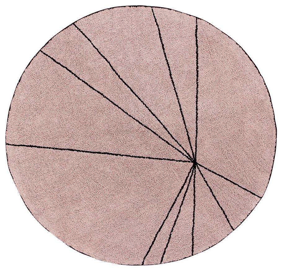 Ковер Lorena Canals Trace Лучи винтажный розовый 160D