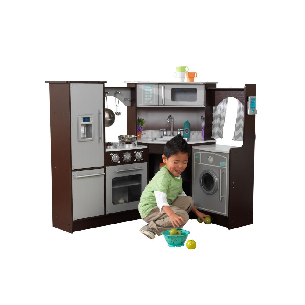 Большая детская игровая кухня KidKraft Эспрессо угловая фото