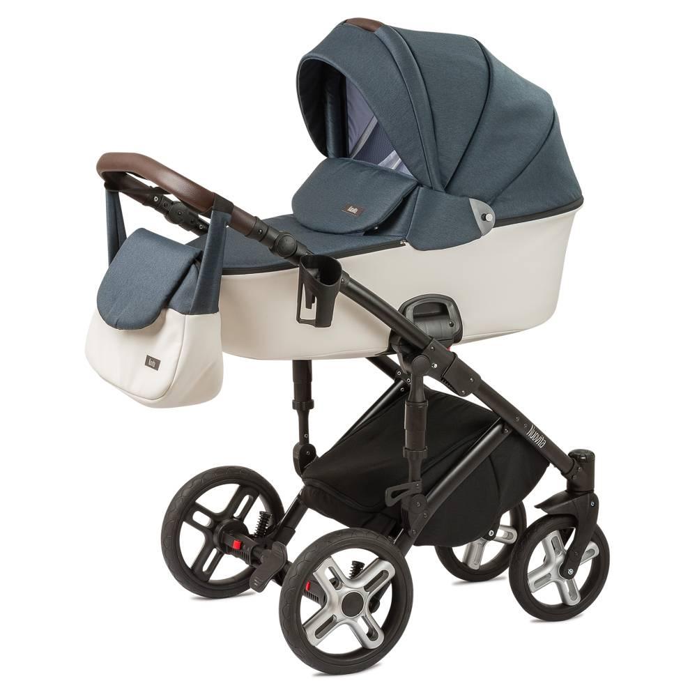Купить Коляска Nuovita Carro Sport 2 в 1 морской, белый, Детские коляски 2 в 1