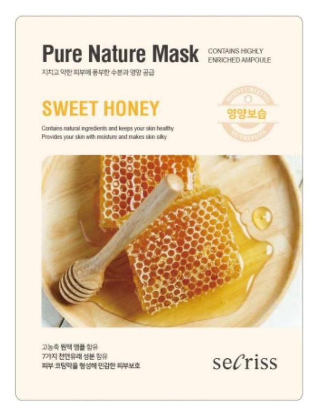 Маска для лица тканевая Secriss Pure Nature Mask Pack-Sweet honey 25мл