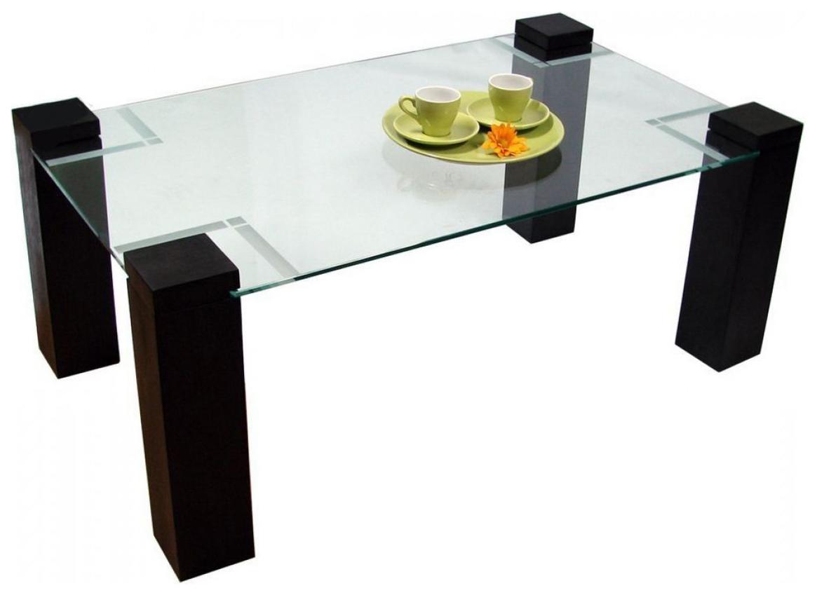 Журнальный столик Мебелик Приз 2Н 181 100х60х42 см, венге/прозрачное