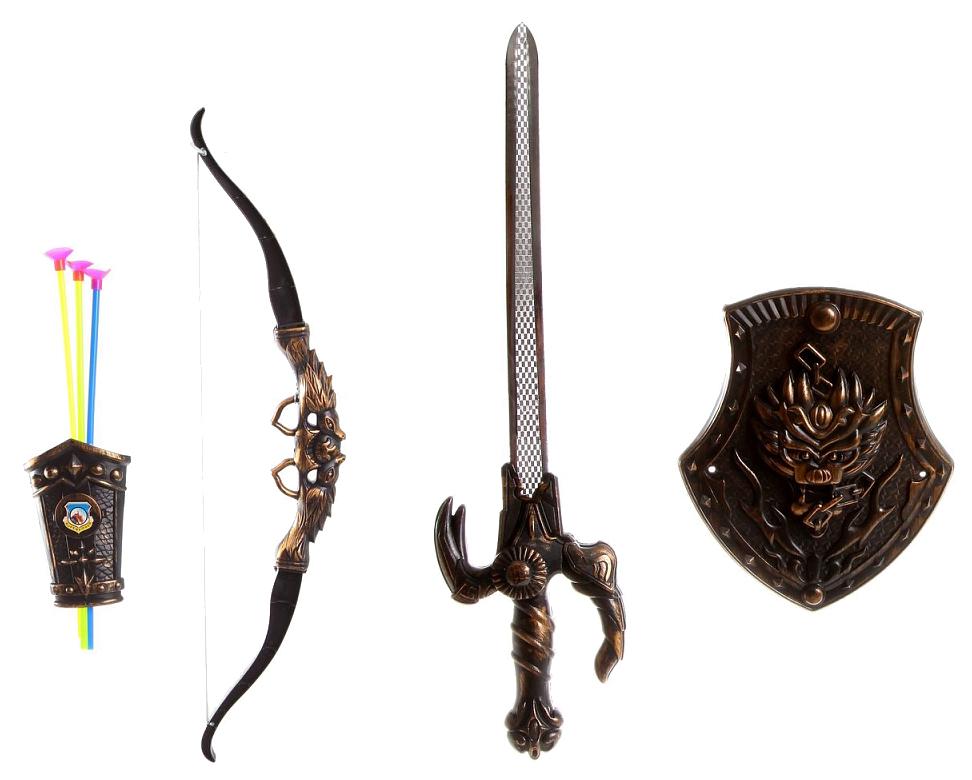 Купить Набор оружия Shantou Gepai Weapon Suit - Лук, меч, щит, стрелы, Луки со стрелами детские