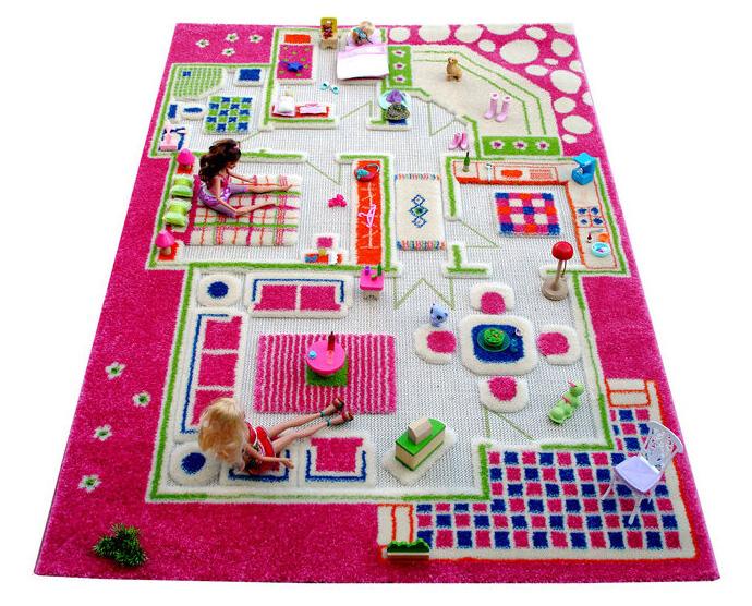 Детский игровой 3D-ковер IVI Домик розовый 100 х 150 см