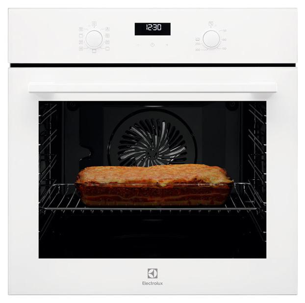 Встраиваемый электрический духовой шкаф Electrolux OEF5H70V White/Black фото