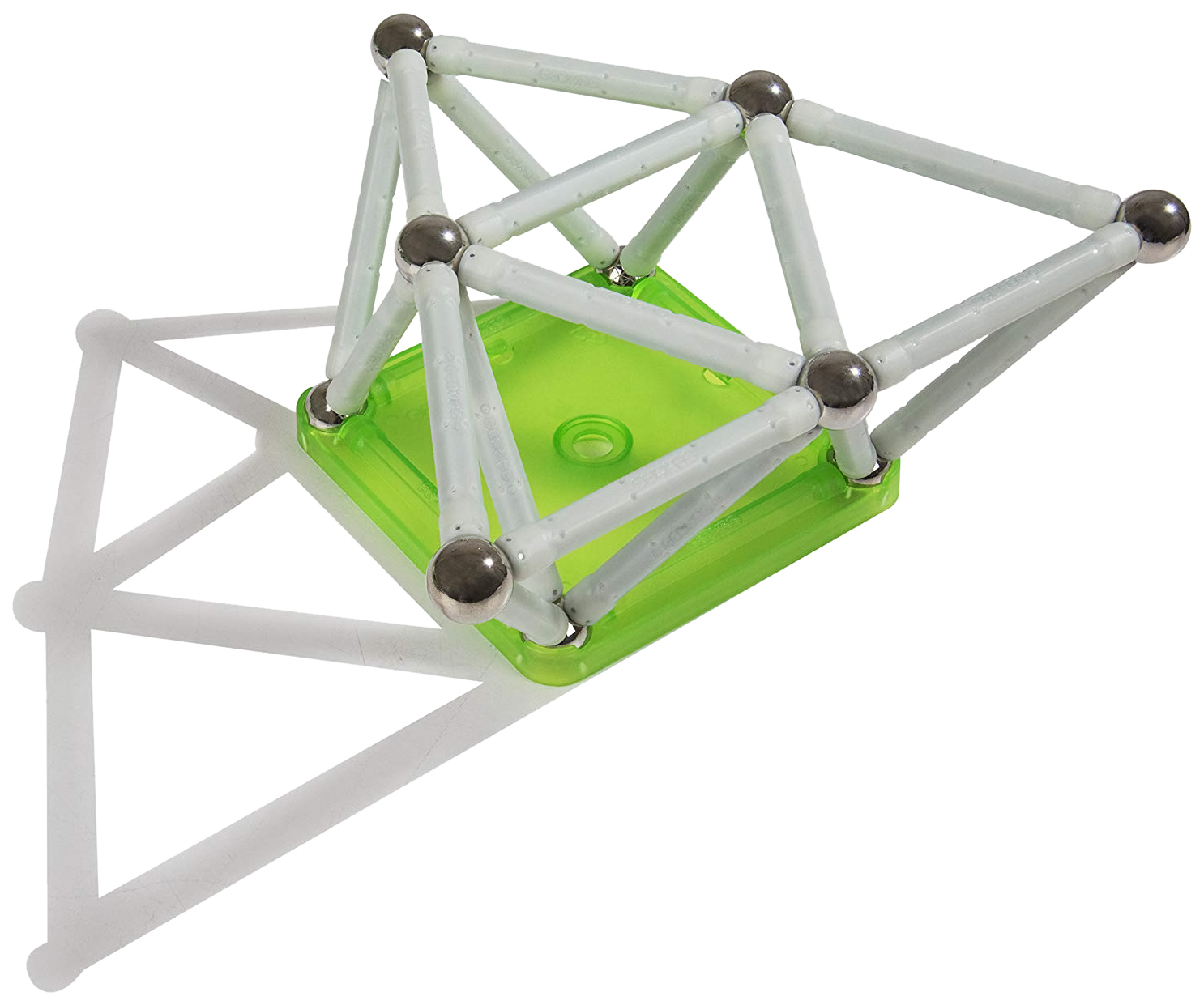 Купить Конструктор магнитный Geomag Glow 40 элементов 330, Магнитные конструкторы