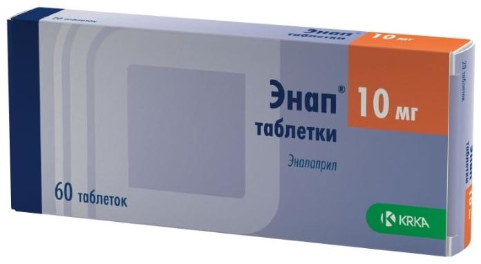 Купить Энап таблетки 10 мг 60 шт., KRKA