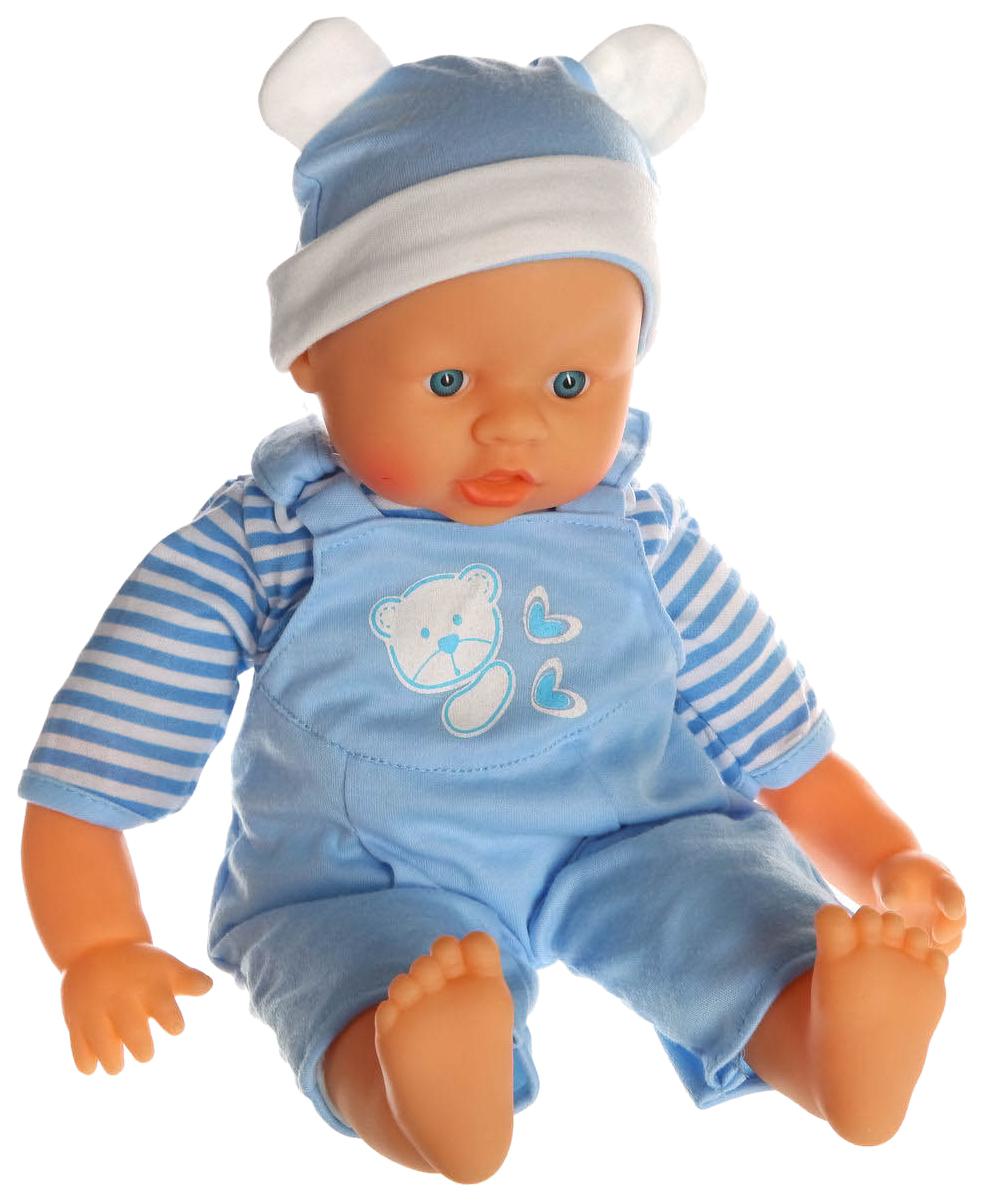 Пупс Shenzhen Toys в комбинезоне и шапочке Baby Peek-a-Boo, 40 см