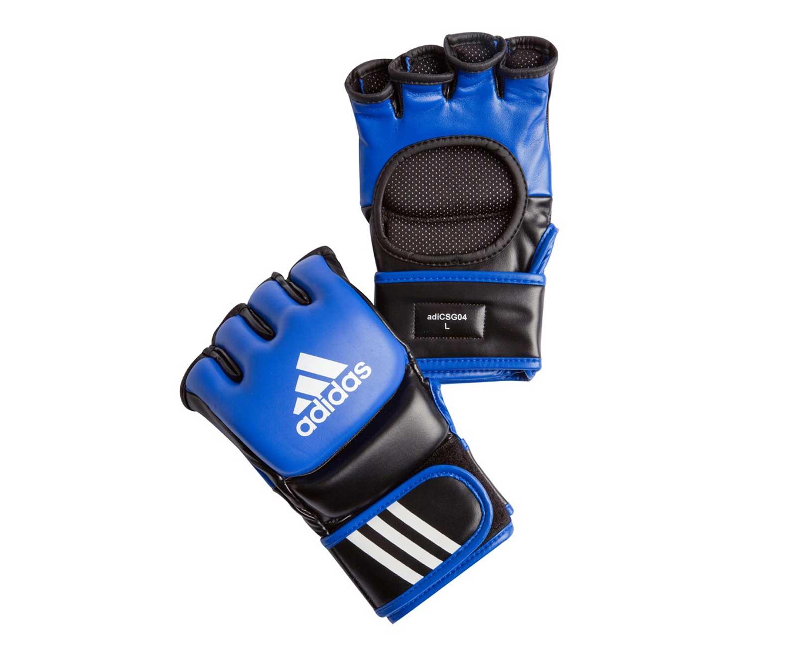Перчатки для смешанных единоборств Adidas Ultimate Fight сине-черные L