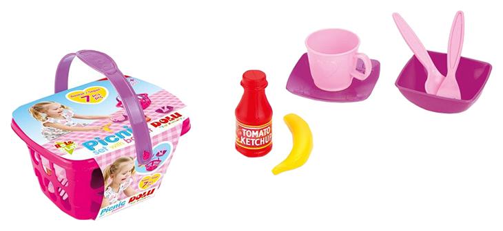 Купить Игрушечные кухни, Набор продуктов игрушечный Dolu Маленький Пикник, Игрушечные продукты