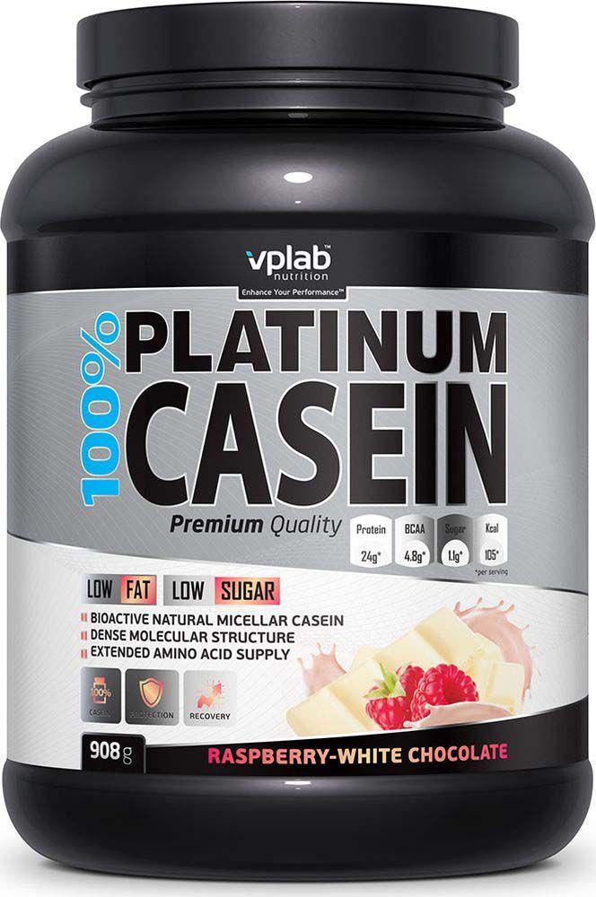 Протеин VPLab 100% Platinum Casein 908 г Raspberry-White Chocolate фото