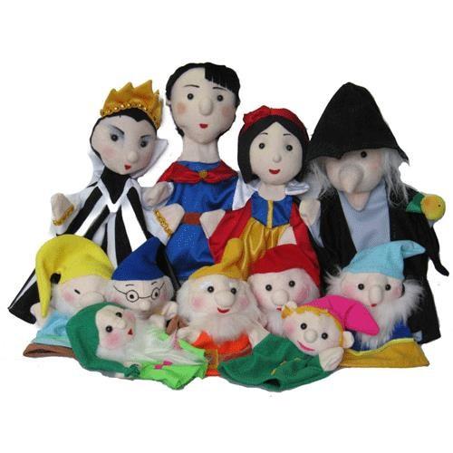 Игровой набор Тайга Кукольный театр Белоснежка и семь гномов 11 кукол фото