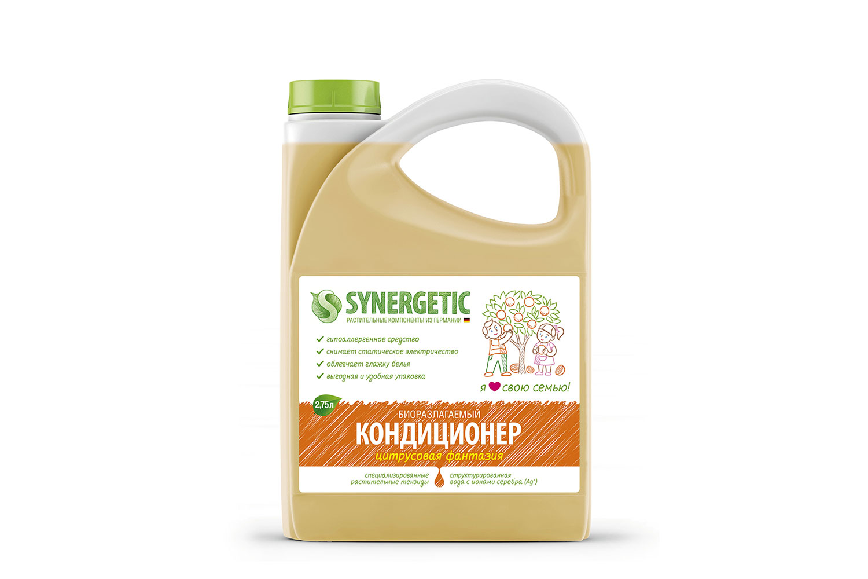 Кондиционер для белья Synergetic цитрусовая фантазия 2.75 л