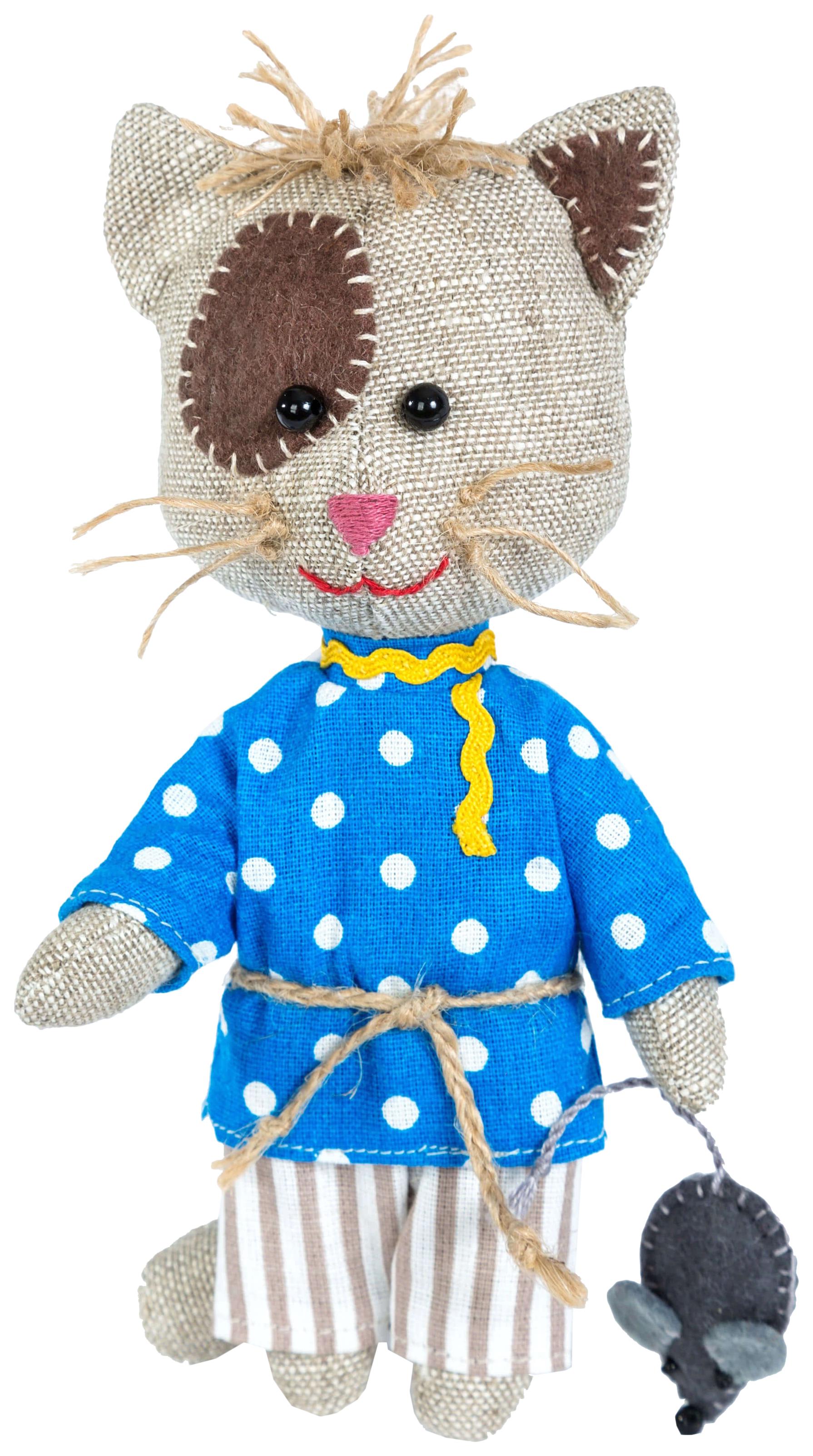 Купить ПЕРЛОВКА Набор для создания текстильной игрушки Домовитый кот Василий, 15, 5 см, 904699, Перловка, Рукоделие