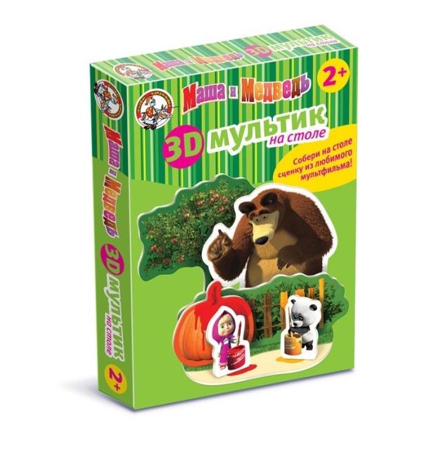 Купить 3D мультик на столе. Краски - Маша и Медведь Десятое королевство 01437, Десятое Королевство,