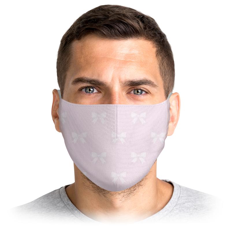 Многоразовая маска Printio Бантики фиолетовая S