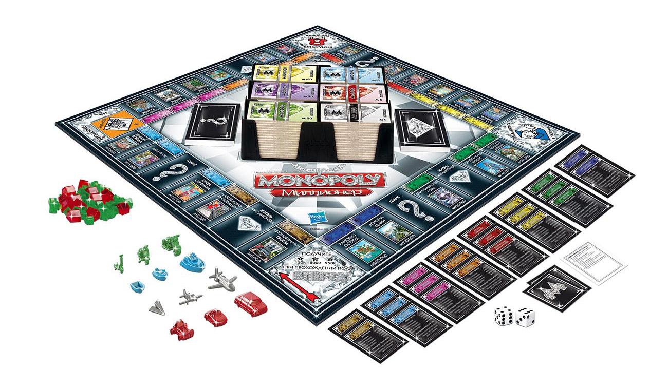 Купить Экономическая настольная игра Monopoly Монополия Миллионер 98838, Hasbro Games, Экономические настольные игры