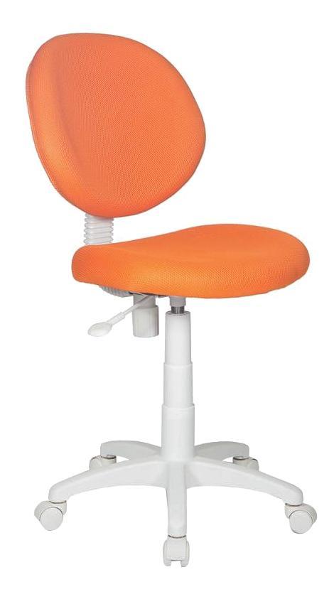 Купить Оранжевый TW-96-1 (пластик белый), Кресло компьютерное БЮРОКРАТ KD-W6/TW-96-1, Бюрократ, Детские стульчики