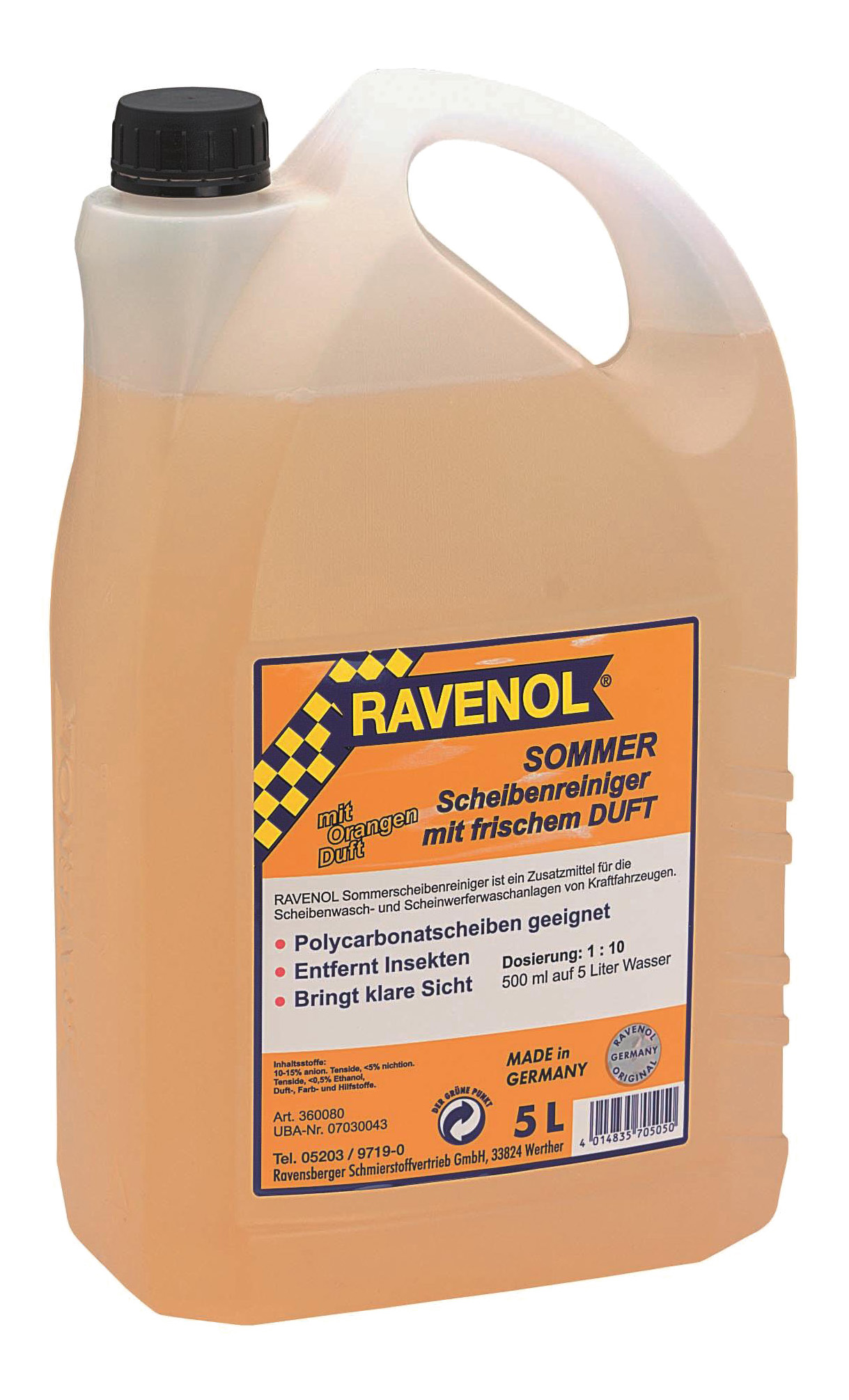 Концентрат жидкости для стеклоомывателя RAVENOL 5°C