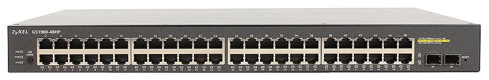 Коммутатор ZyXEL GS1900 48HP Black