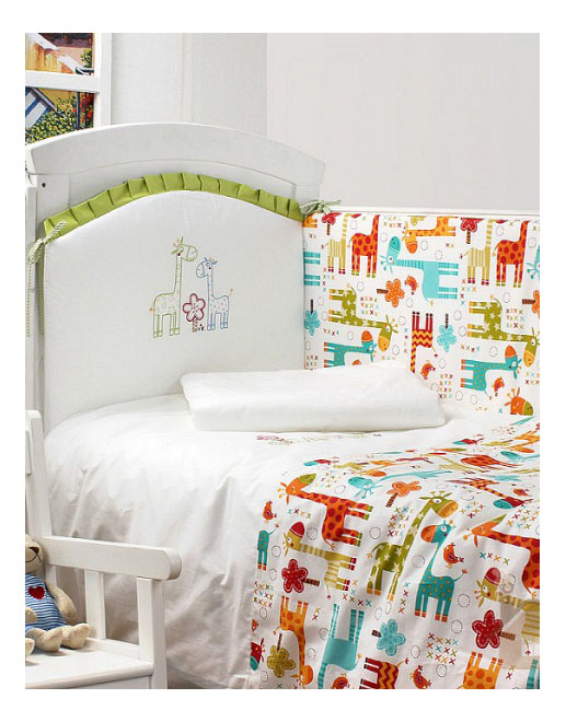 Комплект в кроватку Makkaroni Kids Жирафы 120х60 6 предметов фото