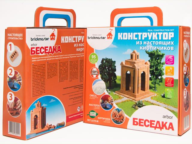 Купить Беседка, Конструктор для малышей беседка керамический для детского творчества 95 деталей, Висма, Детские конструкторы