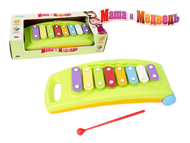 Ксилофон игрушечный Затейники Металлофон Маша и Медведь фото