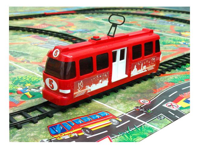 Купить Трамвай Омский завод электротоваров с рельсами в ассортименте, Городской транспорт