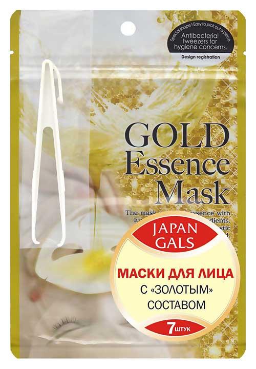 Маска для лица Japan Gals Gold essence Mask 7 шт