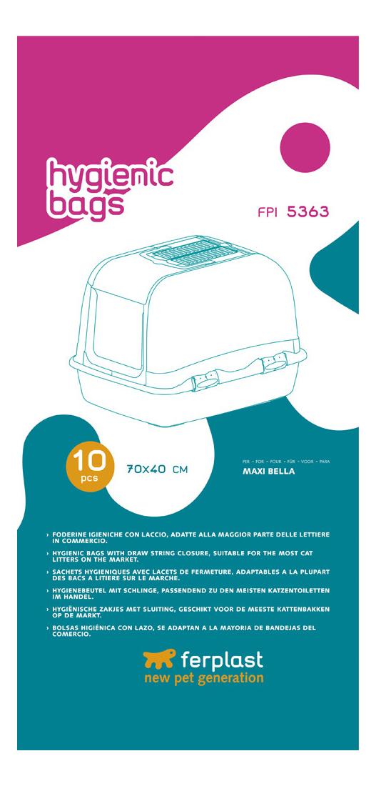 Пакеты для кошачьих лотков ferplast 10шт 85363724
