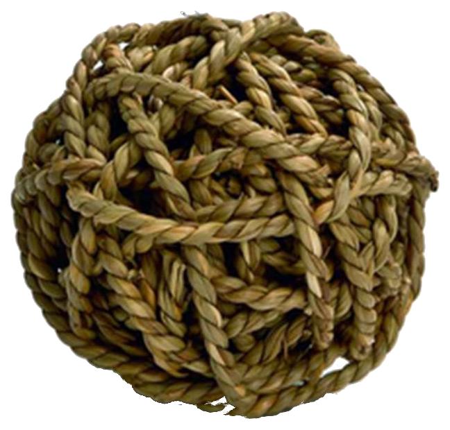 Мяч для грызунов Beeztees, солома, 8 см