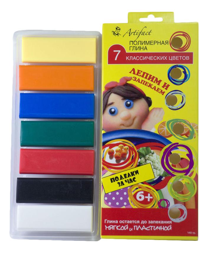 Глина для лепки Artifact 7 классических цветов фото
