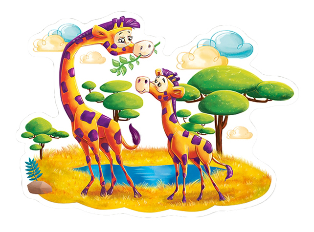Пазл Castorland Жирафы в саванне фото