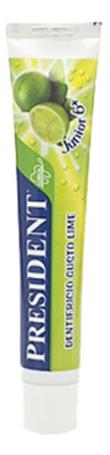 Детская зубная паста PRESIDENT Junior со вкусом лайма 50 мл